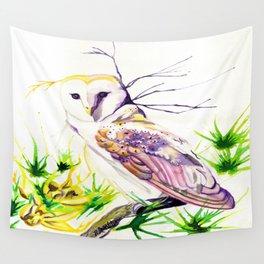 Owl Furze Wisdom  Wall Tapestry