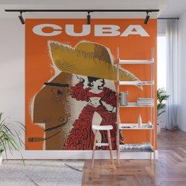 Vintage Travel Ad Cuba Wall Mural
