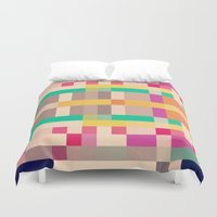 quilt Duvet Covers featuring quilt by spinL