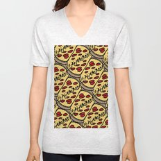 pattern pizza Unisex V-Neck