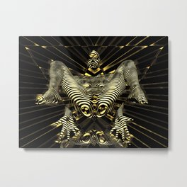 8788-KMA Resistance is Futile Gold Android Ready to Serve Abstract Sensual Figure Metal Print