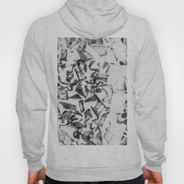 Abstract black white geometric paper triangles pattern Hoody
