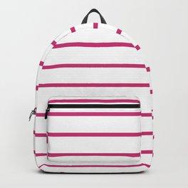Hot Pink Breton Stripes Backpack