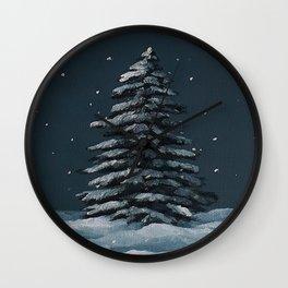 Xmas tree, oil painting by Luna Smith, Luart Gallery Wall Clock