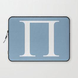 Greek letter Pi sign on placid blue background Laptop Sleeve