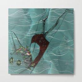 Blue Swimmer no. 1 Metal Print