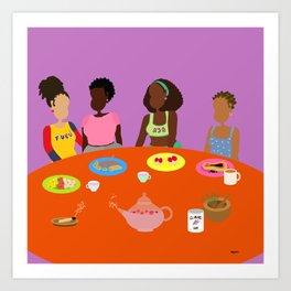 Breakfast for four Art Print