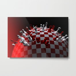 chess fantasy red Metal Print