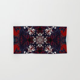 Psychedelic Black, Red and White Pattern Hand & Bath Towel