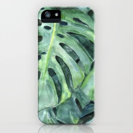 Palm leaves print iPhone Case
