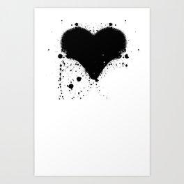 Splatterheart Art Print