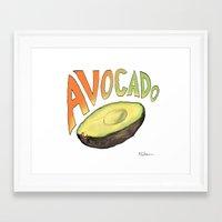 avocado Framed Art Prints featuring Avocado by Ken Coleman