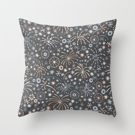 There are fireworks everywhere Throw Pillow