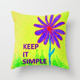 Wildflower Keep It Simple Throw Pillow