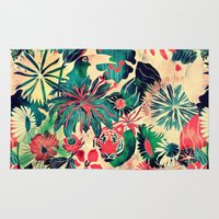 jungle Area & Throw Rugs featuring Jungle by Demi Goutte