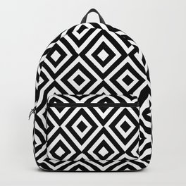 black and white symetric patterns 5- Backpack