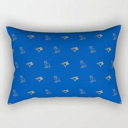 Blue Jay - Away Blue Rectangular Pillow