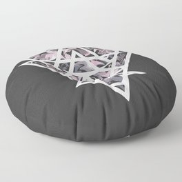 Marble and geometric design pattern Floor Pillow