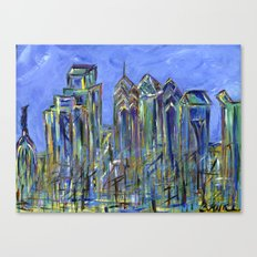 Blue Philadelphia Skyline Canvas Print