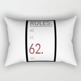 Rule 62 (list) Rectangular Pillow
