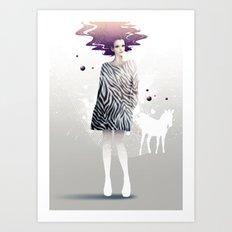 La Robe Zèbre Art Print