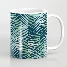 Areca Palm Leaves Stripe Coffee Mug