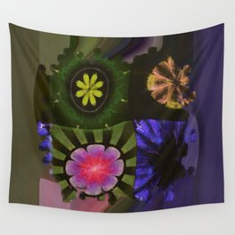 Brinish Symmetry Flowers  ID:16165-053020-45980 Wall Tapestry