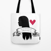 lydia martin Tote Bags featuring Lydia Martin by smartypants