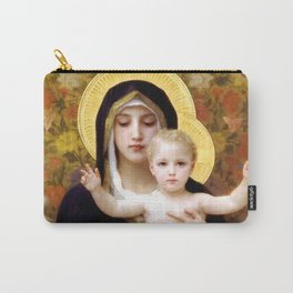 """William-Adolphe Bouguereau """"The Madonna of the Lilies"""" Carry-All Pouch"""