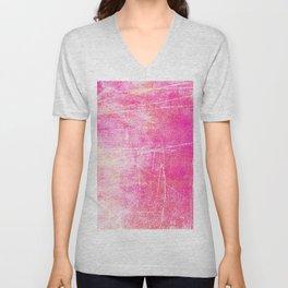 Surreal pink color scratches Unisex V-Neck
