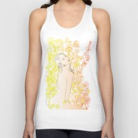 erotic Tank Tops featuring Floral Beauty  by Stevyn Llewellyn