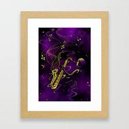 Saxaphone Framed Art Print