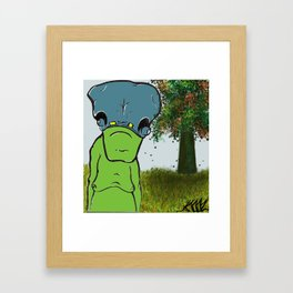 """Happy Sloth""  Framed Art Print"