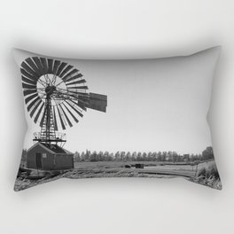 The old village mill Rectangular Pillow