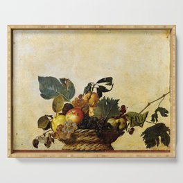 "Michelangelo Merisi da Caravaggio ""Basket of Fruit"" Serving Tray"