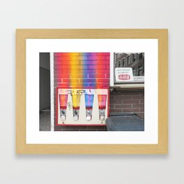 Ruhetag – day off Framed Art Print
