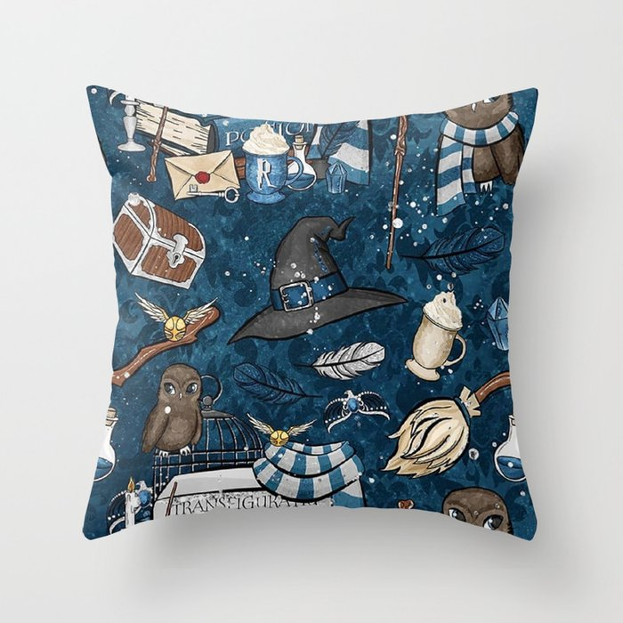 Hogwarts Things Throw Pillow