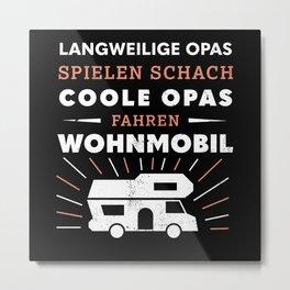 Coole Opas fahren Wohnmobil (Geschenk) Metal Print