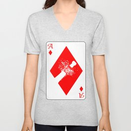 Ace of Diamonds Unisex V-Neck