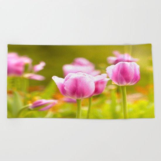 Joy Of Spring Flowers Beach Towel