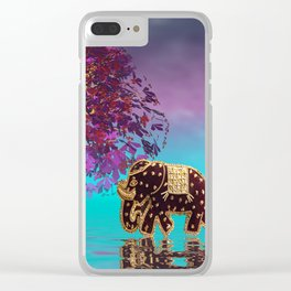 elephant fantasy -1- Clear iPhone Case