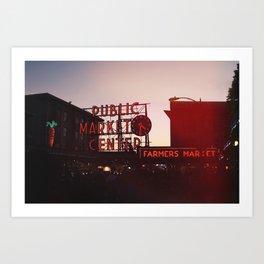 Pike Place at Sundown Art Print
