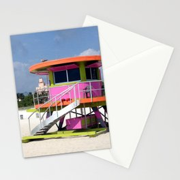 Life Guard Station - Sound Beach, Miami Stationery Cards