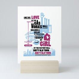 Dirty Old Town - Officially Licensed Design - Ewan MacColl Mini Art Print