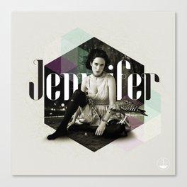 Divas: Jennifer Connelly. Canvas Print