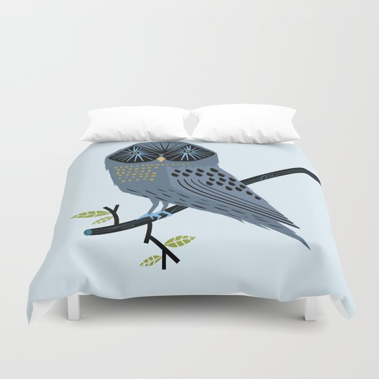 The Perching Owl Duvet Cover