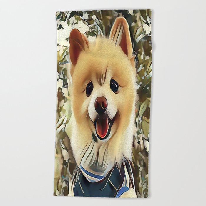 Pomeranian The Teddy Bear Puppy Beach Towel By Sunleil Society6