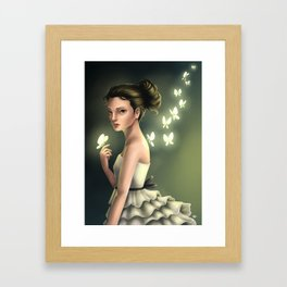 Butterfly Lady Framed Art Print