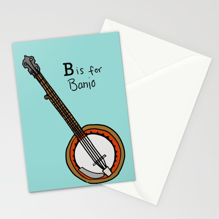 B is for Banjo  Stationery Cards