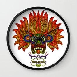 SRI LANKA DEVIL MASK 2 Wall Clock